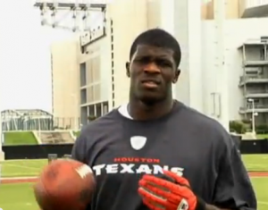 Super fast wide receiver for the Houston Texans.
