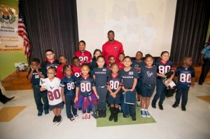 Andre Johnson Holiday Event: Blue Santa Give-away